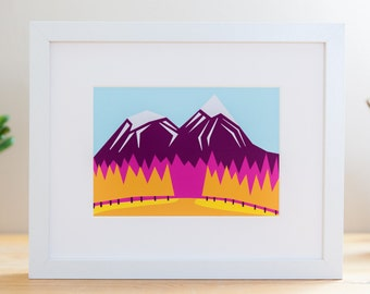 "Fall Mountains // 8x10"" Archival Print"