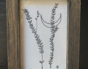 Crescent and weeds