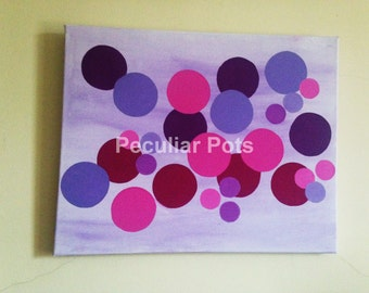 Original Painting on Canvas, Original Abstract Painting, Pink and Purple Painting, Original Painting, Purple Painting, Abstract Painting,