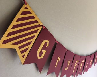 Gryffindor Hogwarts House Banner | Harry Potter Bunting | Hermione Granger | Ron Weasley