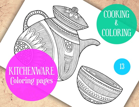 Adult Coloring Pages Kitchen coloring