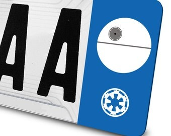 Sticker star of the death Star Wars for number plates