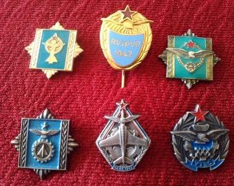 Air Force Military Badges JNA Army Force Yugoslavia Vintage Original Militaria Memorabilia