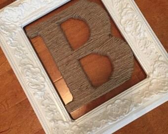 Shabby chic frame, vintage frame, white frame