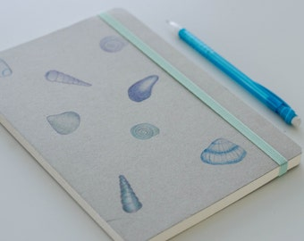 Summers notebook with shells