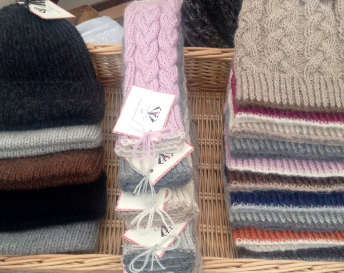 Ladies alpaca mittens / gloves by Willow Luxury ( one size)