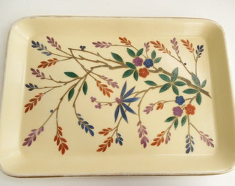 Chinoiserie style vanity tray, porcelain trinket tray, China dressing table tray Oriental / Asian