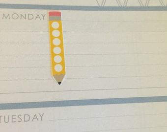 pencil checklist -  stickers for planners, journals, scrapbooks and more!