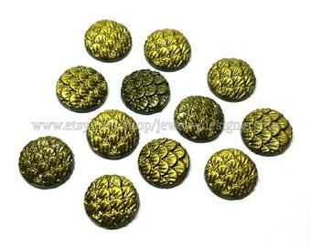 10mm Mermaid Cabochon Mermaids Tail Cabochons Dragon Egg Scales Fish Scale Resin Kawaii Cabs Cellphone Deco Earring Findings Jewelry Supply