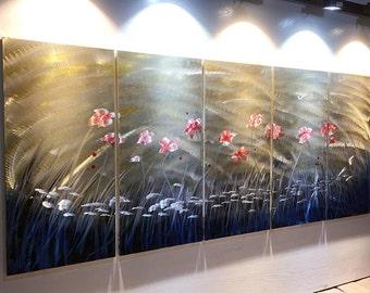 Original Metal Wall Art Modern 3D Painting Sculpture Indoor Outdoor Modern Painting Sculpture wall art. metal painting. metal sculpture wall