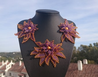 "Necklace ""golden lotus"""