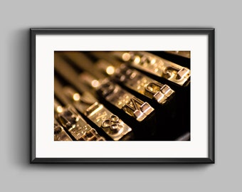 Typewriter Letters 9, Macro Photography, Remington Ten Forty, Photoprint