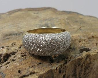 pave diamond ring ladies