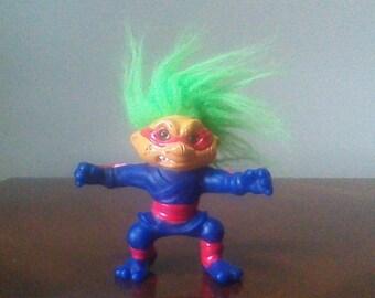 "Vintage 1992 Hasbro The Original Battle Trolls Nunchuk Troll Doll 5"""