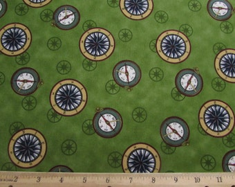 "17""   Safe Harbor Compass Fabric From VIP Remnant/Bolt End 1365"