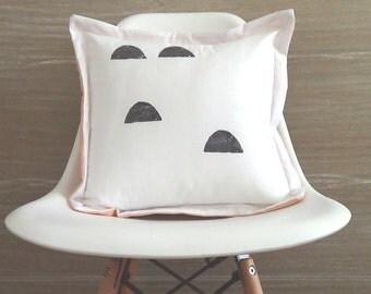 Minimalist pattern pillow, Geometric pillow, Black white pillow