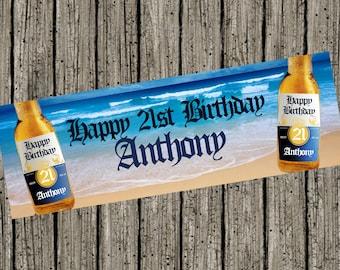 Corona Beer Beach Digital Birthday Banner 6ft x 2ft