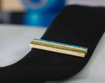 Pince à cravate skateboard recyclé bois
