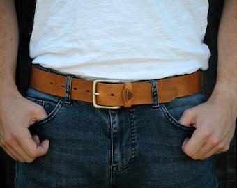 Handmade Leather Belt - Brixham