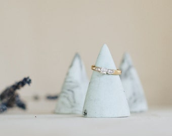 Mint marbled ring cone set of 3 - bridesmaid gift