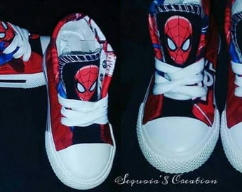 Custom Spiderman Hightops