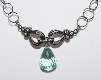 Aquamarine Briolette custom designed necklace