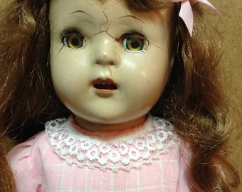 "17"" Composite doll 1930's"
