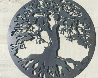 Marvelous Tree Of Life Metal Wall Art Pleasing Tree Of Life Art Etsy Design  Inspiration