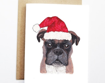 Christmas Card - Boxer, Dog Christmas Card, Cute Christmas Card, Holiday Card, Xmas Card, Seasonal Card, Christmas Card Set