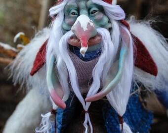 OOAK fantasy creature Winter Troll- Rungammel