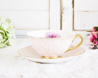 Vintage Shelley Oleander Thistle Teacup: Shelley Thistle Teacup, Tea Party Teacup, Vintage Teacup, English Teacup, Shelley Teacup