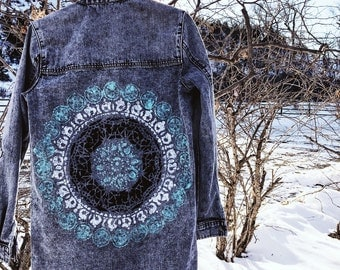 Handpainted Mandala Coat