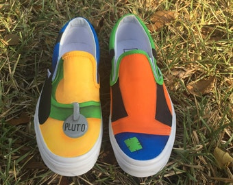 Adult Hand Painted GOOFY and PLUTO inspired canvas shoes- VANS