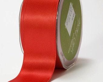 1.5 Inch Double Faced Satin Ribbon 30yd BRIGHT RED Florist Supply DIY Brides Wedding Ribbons
