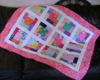 Charm Squares Throw Quilt