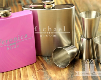 Flask Gift Set w/ Custom Engraving - Fully Loaded