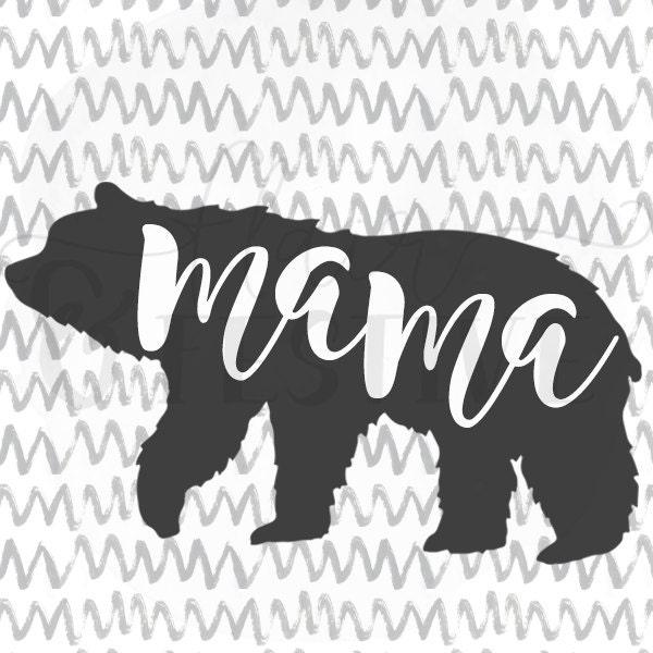 Mama Bear Svg Cut File Silhouette Svg Cricut By