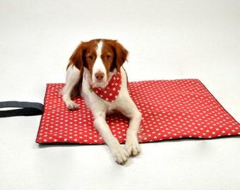 Dog bed. Travel dog bed.Travel pet bed. Washable pet beds. Size L