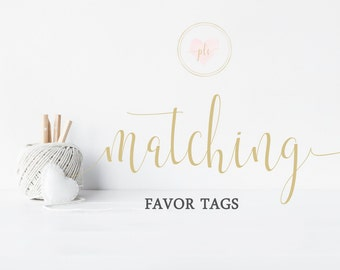 Matching Favor Tags- Thank You Tags - For Existing Orders Only