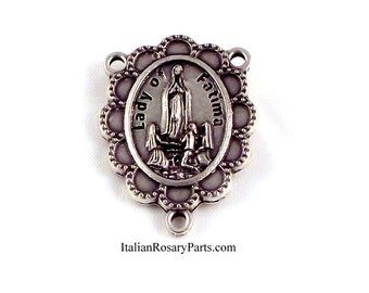 Italian Rosary Parts | Virgin of Fatima Rosary Center Medal