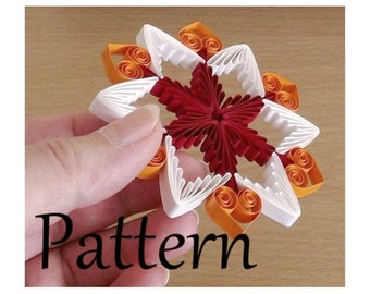 Quilling pattern, tutorial  (QD12) - DIY, PDF, Instant download