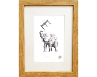 E for Elephant Print - signed limited edition