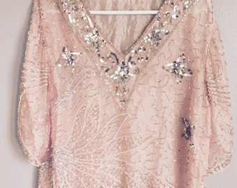 lovely pink sequin top