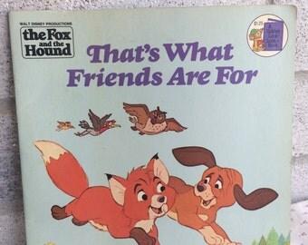 Vintage 1981 Disney book, The Fox and the Hound, vintage Disney book