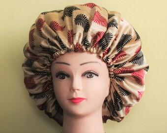 Reversible Draw string/Adjustable Large Silk Bonnet