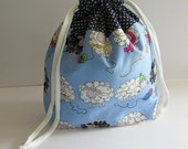 DR-022, knitting, crochet, DrawString bag, Projectbag, project bag, DrawString bag, knitting, crochet, Knittingproject bag, Projectbag