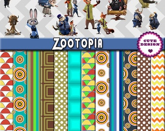 Zootopia, Digital papers Zootopia, Clipart Zootopia, Png, Png Zootopia