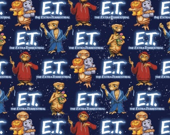New Arrival E.T. The Extra-Terrestrial, E.T. Cotton Fabric BTY.