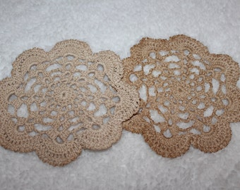 Coffee Stained Shell Doily