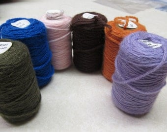 Vintage Cameo Rug Yarn ( Rare ) Punch Needle Embroidery 6 Assorted Colors